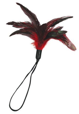 sportsheets pleasure feather red