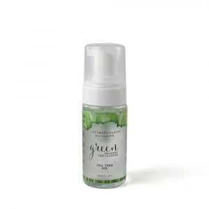 intimate earth green tea tree oil foaming toy cleaner oz